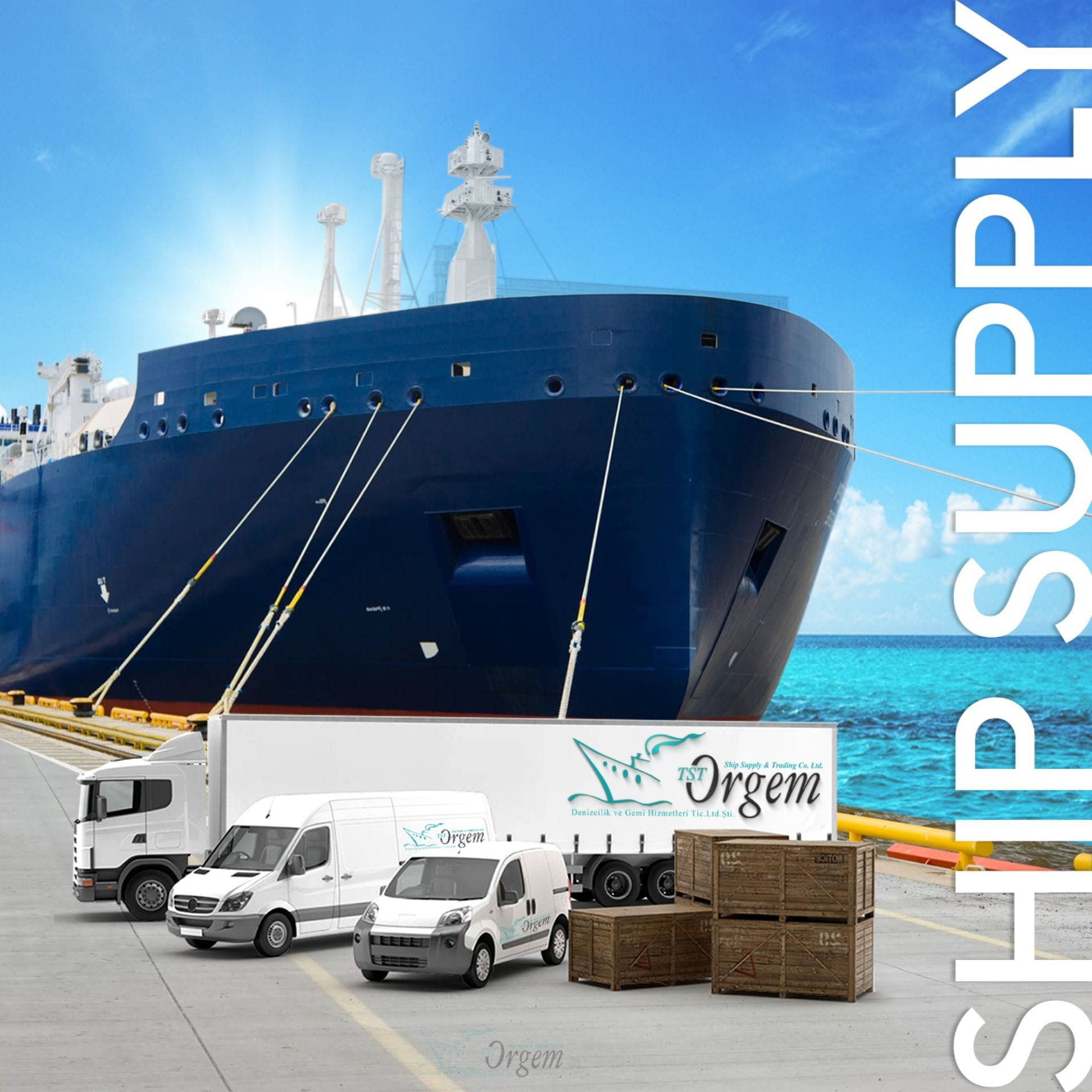 TST Orgem Ship Provision Supply from Istanbul to the World!